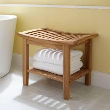 bench bathroom shower shelf