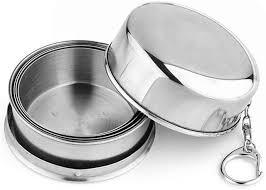 fengzong <b>Stainless Steel</b> Folding Cup Travel Tool Kit Survival <b>EDC</b> ...