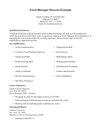 sample resume templates for no job experience resume sample sample resume example resume template for event manager career experience sample resume templates