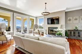 living room in luxury home with expansive view beautiful living room pillar