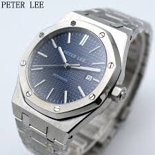 PETER LEE <b>Mens Watches</b> Top Brand Luxury <b>Full Steel</b> Waterproof ...