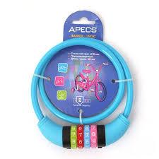 <b>Замок</b> велосипедный <b>Apecs PD</b>-<b>85</b>-<b>65CM</b>-<b>CODE</b>-<b>BLUE</b>