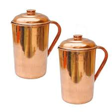 Handmade <b>Pure Copper</b> Handmade Water Pitcher Pot Jug <b>2 Pcs</b> ...