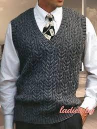 Вязаный мужской <b>тёмно</b>-<b>серый жилет</b> | Серый <b>жилет</b>, Мужской ...