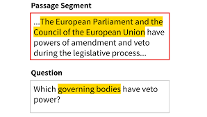 on the stanford question answering dataset mlx to answer this question qa systems have to infer that the european parliament and the