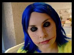 make up look cine creepy doll