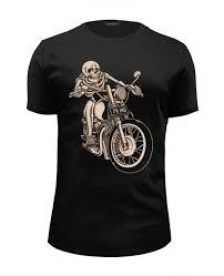 "Футболка Wearcraft Premium Slim Fit ""Skeleton <b>Biker</b>"" #1014299 от ..."