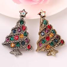 <b>CINDY XIANG Colorful</b> Rhinestone Christmas Tree Brooches for ...