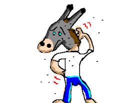Resultado de imagem para cavalo tarado charge