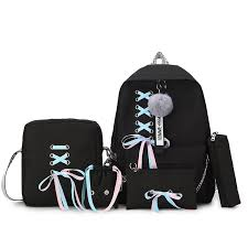 2019 Recreational multi piece <b>Canvas</b> Backpack <b>mochila</b> feminina ...