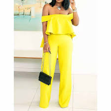 Summer Sexy Club <b>African Fashion</b> Yellow Beach <b>Women</b> Two ...