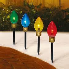 Holiday Time <b>Christmas</b> Lights Jumbo C9 Lighted Lawn Stake, <b>4</b> ...