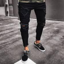 Online Shop 2019 High Street Fashion <b>Men Jeans</b> Loose Fit Harem ...