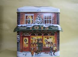 Lot 4 <b>Vtg 90s</b> Large House Shaped Tins Winter Holiday Village ...