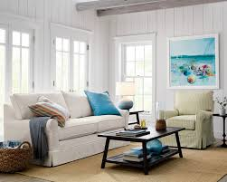 harborside slipcovered apartment sofa beach style living room beach style living room furniture