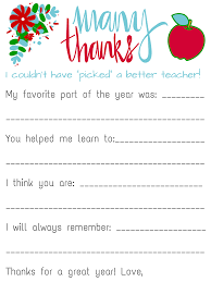 thank you letter for teacher appreciation teacher appreciation savvy spending teacher appreciation personalized card