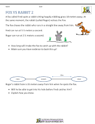 th grade math problems 5th grade math problems fox vs rabbit 2
