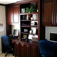 Built In Home Office Cabinets With Dual Workstations