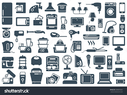kitchen appliances icon set household appliances icons stock vector household appliances icons