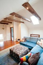 installing can lighting in ceiling beams on vaulted ceiling attic conversion contemporary family room by cathedral ceiling lighting ideas
