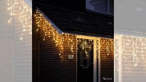 <b>Светодиодные</b> гирлянды <b>Бахрома</b> тёплый белый свет купить в ...