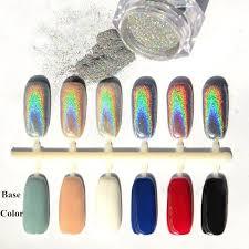 <b>2g</b>/<b>box HOLO Nails</b> Effect <b>Holographic Laser</b> Chrome Powder Glitter ...