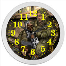 """Часы для офиса c уникальными принтами """"<b>stalker</b>"""" - купить в ..."""