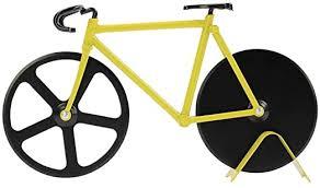 Pizza Cutter - <b>Bicycle Pizza Cutter</b>: Black & Yellow: Amazon.ca ...