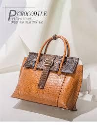 <b>Qiwang Brand Luxury leather</b> Lady Handbags Designer Tote Bag ...