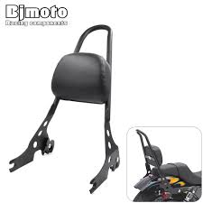 <b>Motorcycle Passenger Backrest Rear</b> SissyBar Cushion Pad For ...