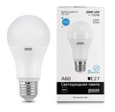 <b>Светодиодная лампа LED</b> E27 <b>GAUSS</b> A60 мм - выгодно купить в ...