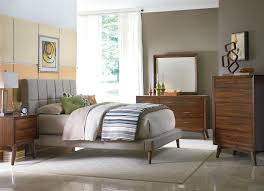 mid century small bedroom remodeling ideas for boy displaying elegant gray upholstery fabric low profile beds antique lamp enchanting mid century