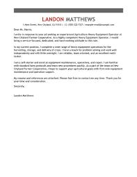 leading professional heavy equipment operator cover letter heavy equipment operator cover letter example