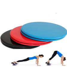 <b>1Pair Gliding Discs</b> Slider Fitness Disc Exercise Sliding Plate For ...