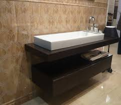 view in gallery marble floored bathroom with gorgeous floating sink and cabinet form bathroom sink furniture cabinet