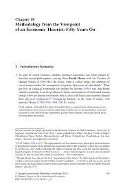 methodology from the viewpoint of an economic theorist fifty inside