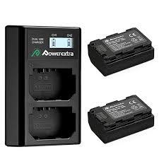 2 аккумулятора + <b>зарядное устройство Powerextra NP-FZ100</b> ...