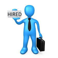 new hire clipart clipartfest blue guy hired1