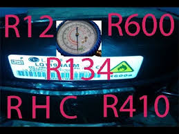 How to gas charging for pressure R12 <b>R600</b> R134 <b>R410</b> R H C ...