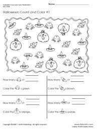 Free Holiday Worksheets and Coloring Pages | TLSBooksThumbnail image of Halloween Count and Color Worksheet 1.