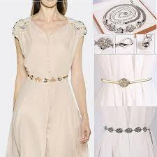 <b>Women's</b> Ladies <b>Fashion</b> Metal <b>Pearl</b> Waist <b>Belt</b> Modern Dress ...