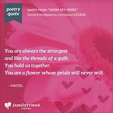 mom my hero  mother daughter poem