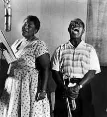 <b>Ella Fitzgerald</b> & <b>Louis Armstrong</b>, 1950s | <b>Louis armstrong</b>, Ella ...