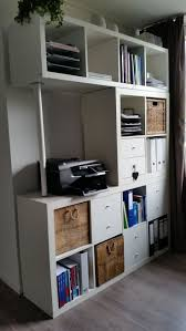 i would cut off the extra wood from the center piece and add screws so they would fit together better the combination of the storage racks kallax ikea anew office ikea storage