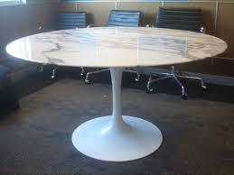 round white marble dining table: knoll saarinen white dining table with  inch round marble top image
