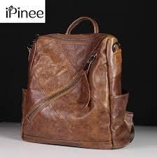 <b>iPinee</b> High Quality <b>Genuine</b> Leather Women's Backpacks Travel ...