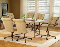 Dining Room Chairs With Casters And Arms Amazing Dining Room Chairs With Arms And Casters Ainove And Dining