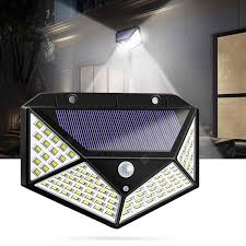100 LED <b>Solar</b> Powered Garden Lamp Black 1pc <b>Solar</b> Wall Lights ...