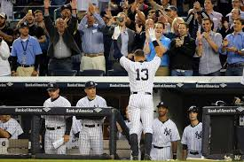 Image result for fans standing for alex rodriguez at the stadium