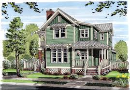 House Plan at FamilyHomePlans comBungalow Coastal Cottage Country Farmhouse Traditional House Plan Elevation